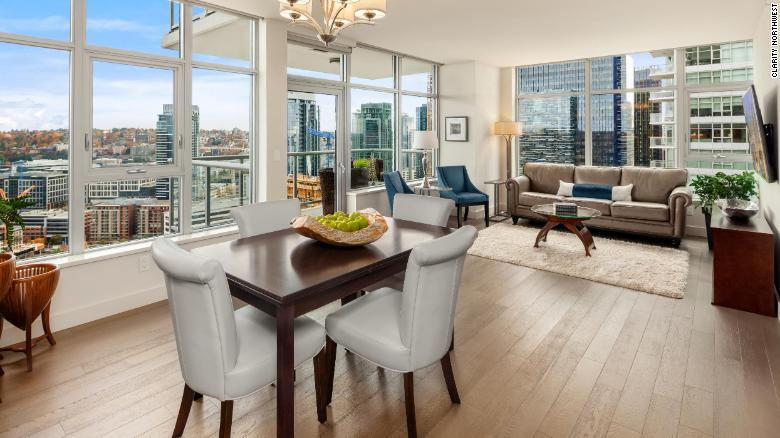 This two-bedroom condo near the Amazon headquarters in Seattle was reduced to $1.198 million from $1.395 million.